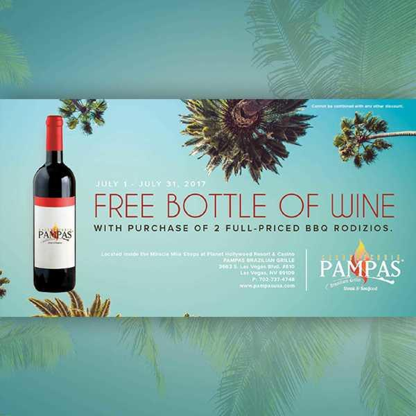 Free Bottle Of Wine With 2 BBQ Rodizios image