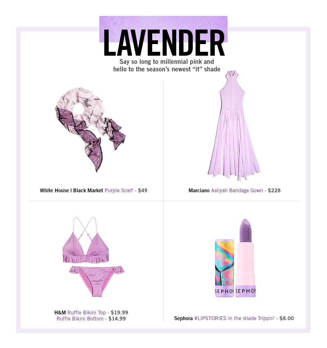 Spring Fashion 2018 Lavender