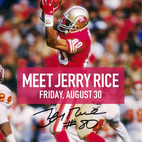 Jerry Rice personal appearance on August 20 2:00-3:00PM image