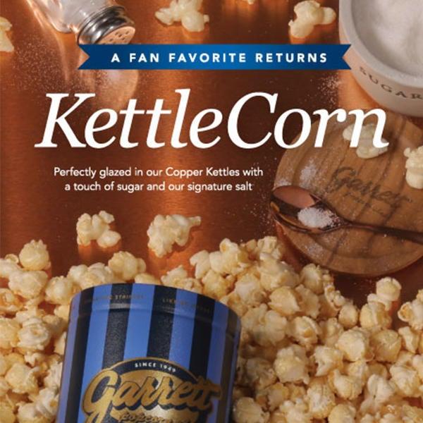 KettleCorn is back for a limited time at Garrett Popcorn Shops! image