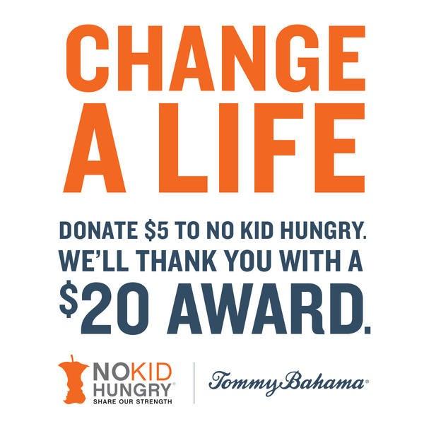 Donate $5 to No Kid Hungry & Get $20 Reward image