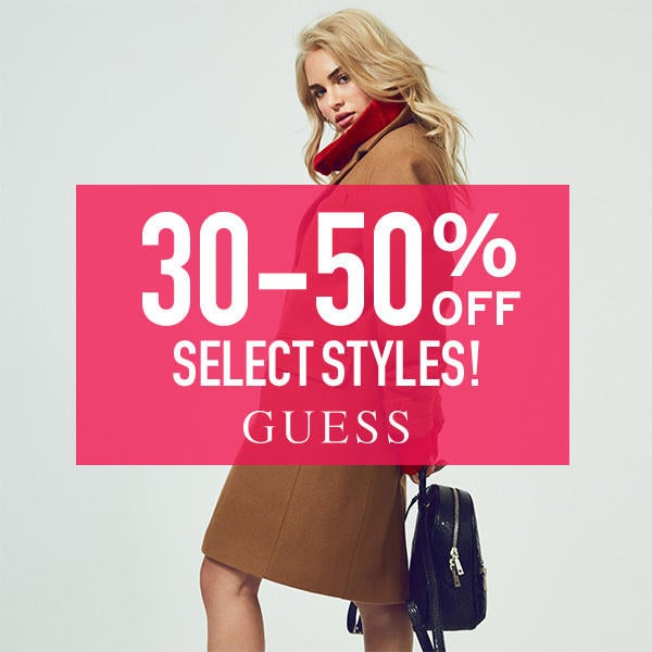 GUESS 30-50% OFF Select Styles! image