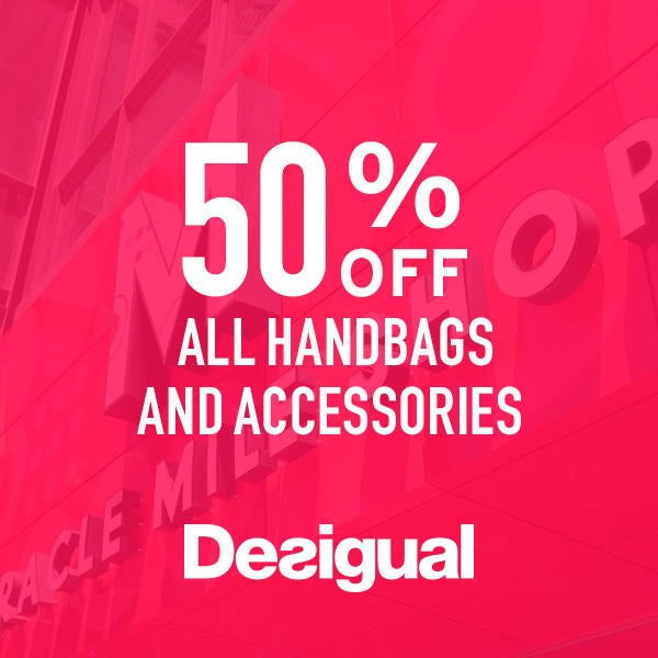 Desigual  50% off ALL Handbags and Accessories  image