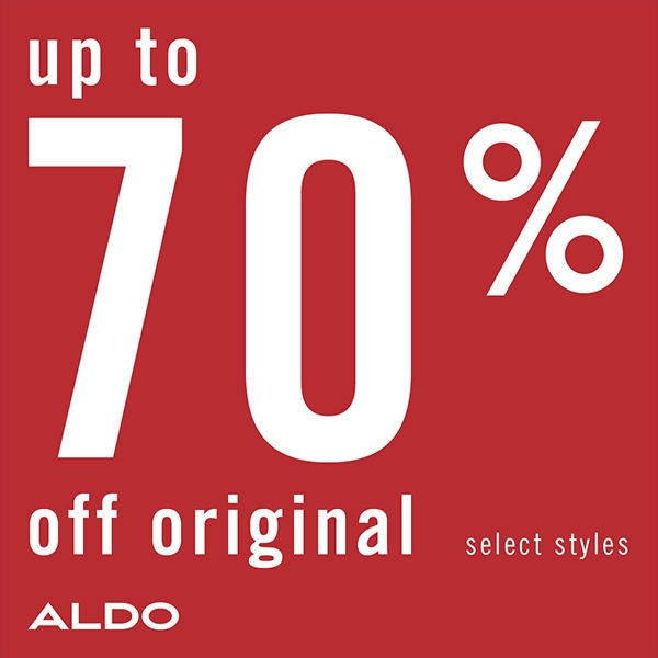 Aldo End of Season Sale - Up to 70% off! image