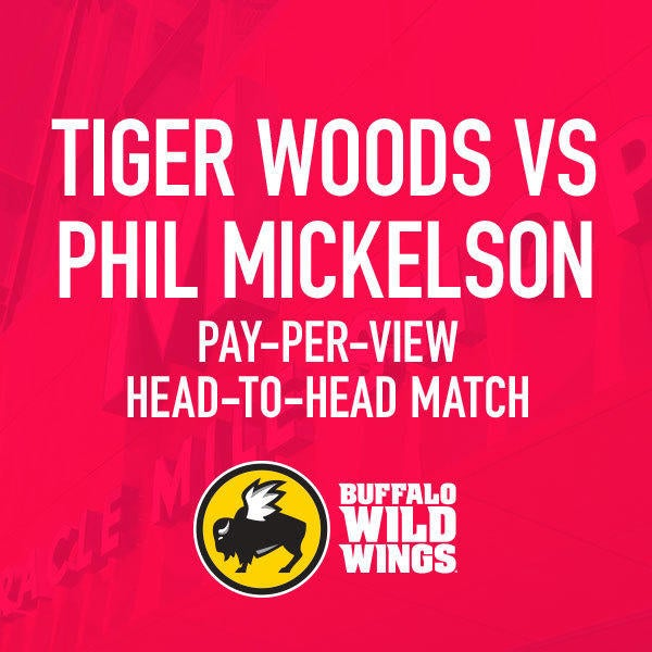 Buffalo Wild Wings Tiger Woods vs Phil Mickelson Pay-Per-View   image