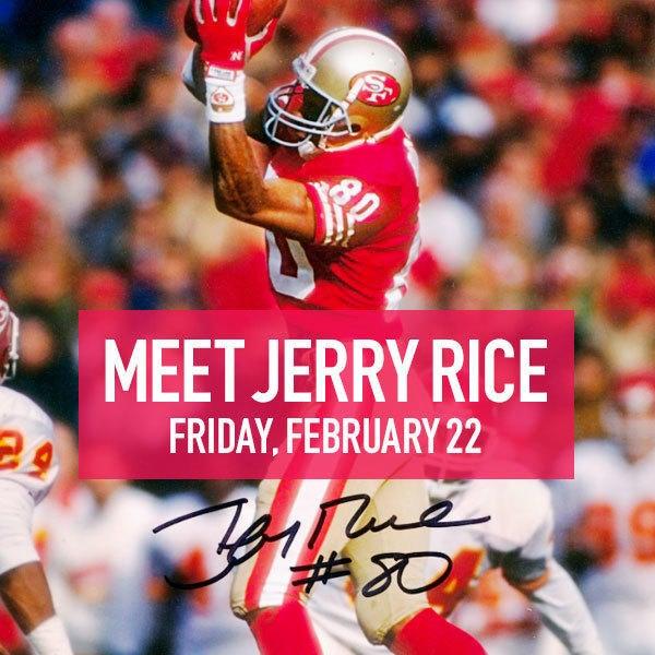 TRISTAR Sports & Celebrity Memorabilia Meet Jerry Rice Feb. 22 image