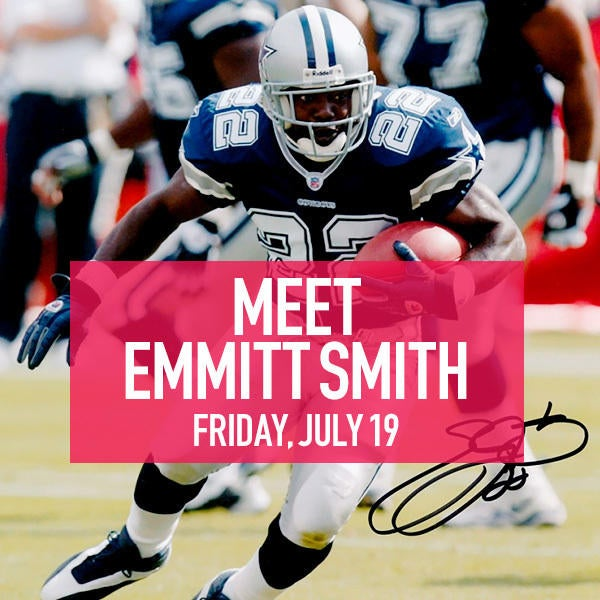 Emmitt Smith personal appearance on July 19 4:30-5:30PM image