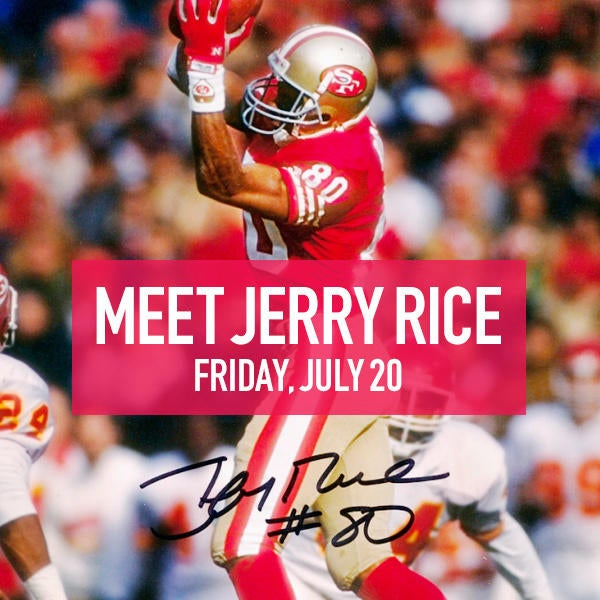 Meet Jerry Rice Friday, July 20 image