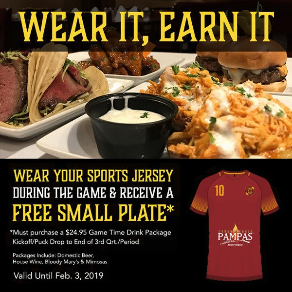 Wear A Jersey, Receive a Free Small Plate image