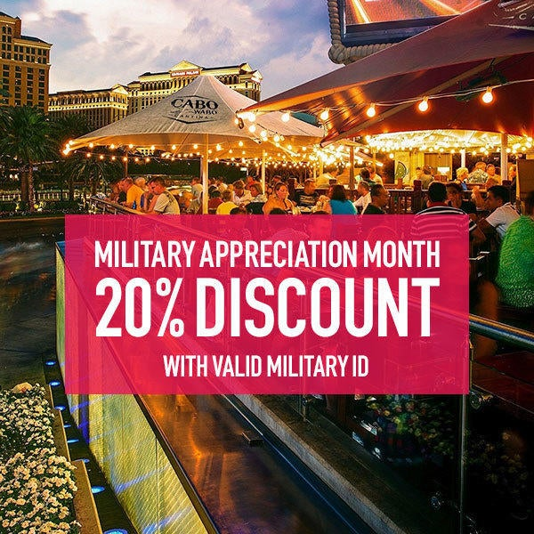 Cabo Wabo Cantina - Military Appreciation Month image