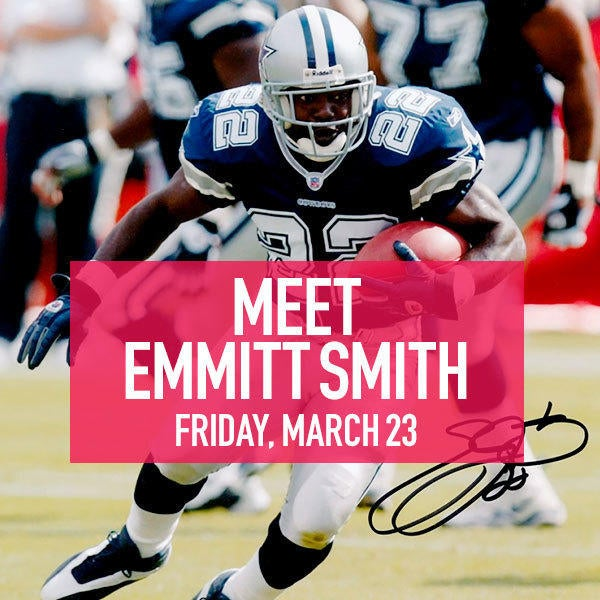 Meet Emmitt Smith on Friday, March 23 image