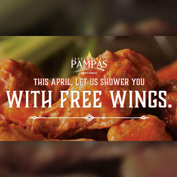 Free Wings All Month Long image