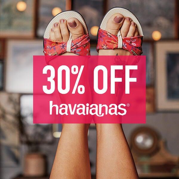 30% off regular price items at Havaianas image