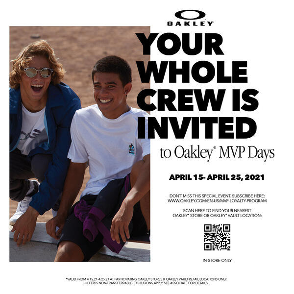 The Oakley Spring Friends and Family Event image