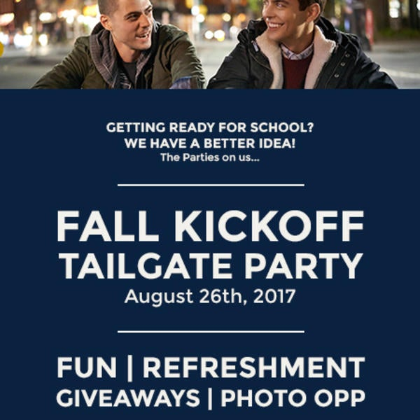 Fall Kickoff Tailgate Party - Aug. 26 image