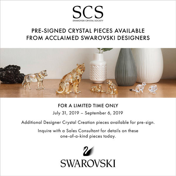 Limited Time Designer Signed Swarovski Crystal Pieces image