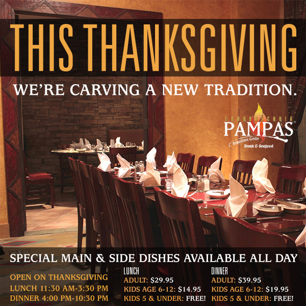 Pampas Churrascaria Brazilian Grille Thanksgiving Dinner image