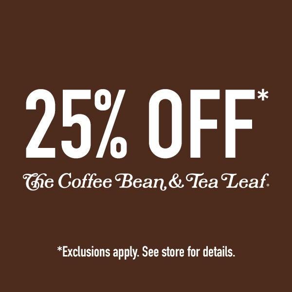 25% off at The Coffee Bean & Tea Leaf image