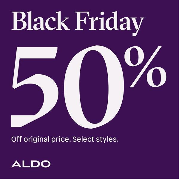 Aldo Black Friday Must Haves at 50% off image
