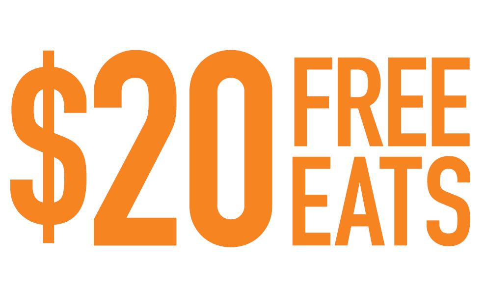 $20 Free Eats